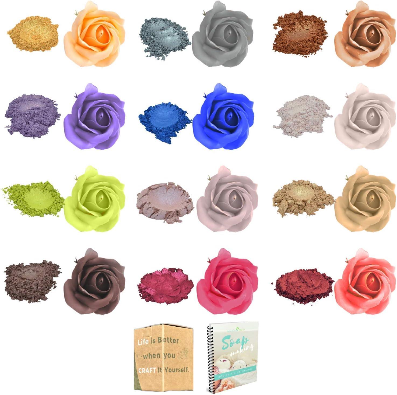 4.5 oz Mica Powder for Epoxy Metallic- Hand Soap Making Kit - Epoxy Resin Dye - Bath Bomb Color - Makeup Dye - Slime Pigment