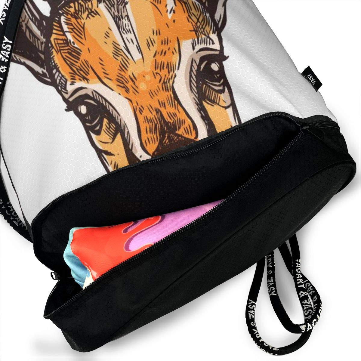 African Antelopes Cinch Backpack Sackpack Tote Sack Lightweight Waterproof Large Storage Drawstring Bag For Men /& Women