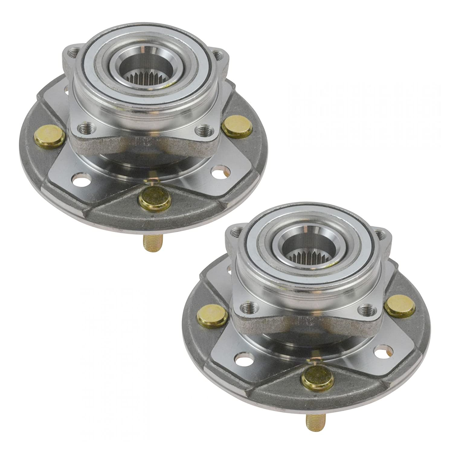 Front Wheel Hubs & Bearings Assembly Left & Right Pair Set for Honda Accord CL AM Autoparts