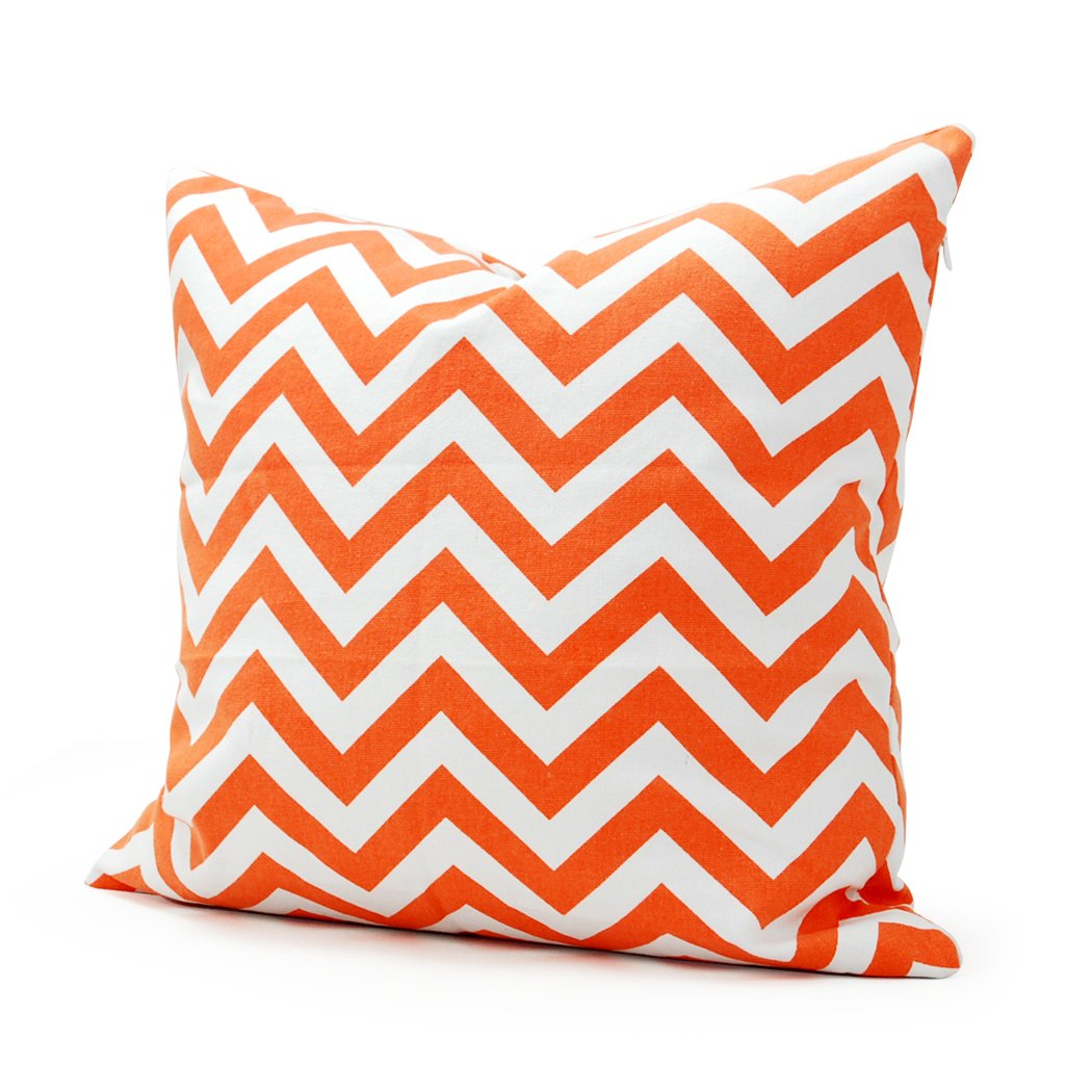 White and Orange Chevron Strip...
