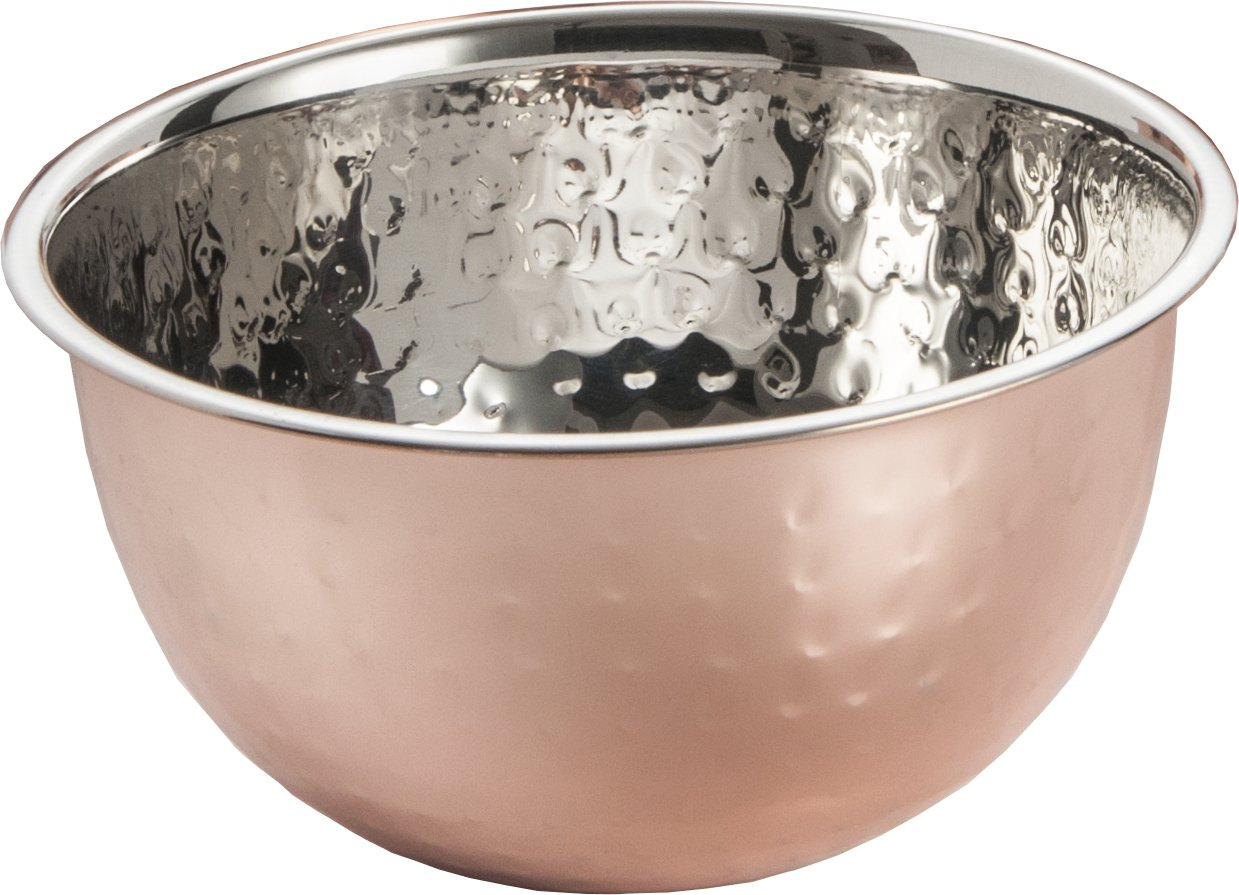 ExcelSteel Professional Hammered Mixing Bowl, Copper