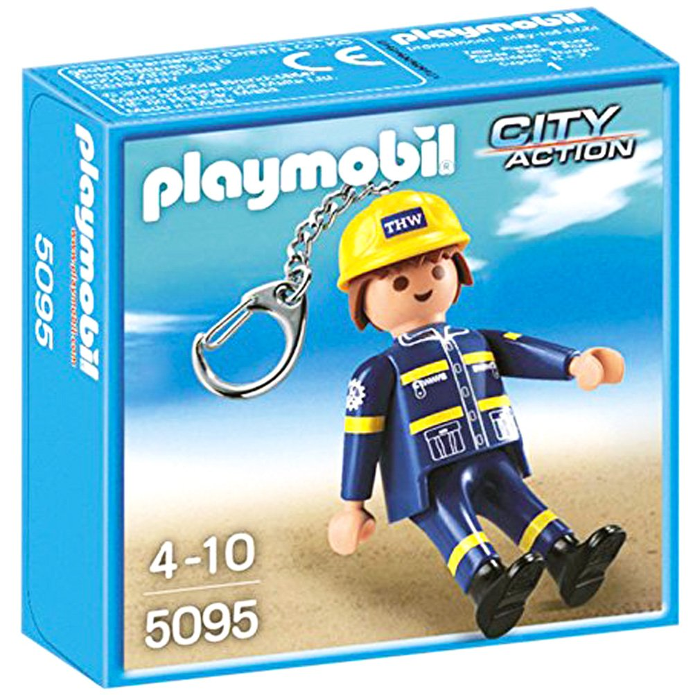 Playmobil - 5095 - Llavero Ingeniero THW: Amazon.es ...