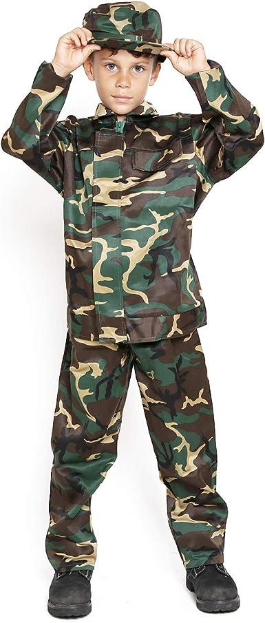 Amazon Com Disfraz De Camuflaje Militar Para Ninos Clothing