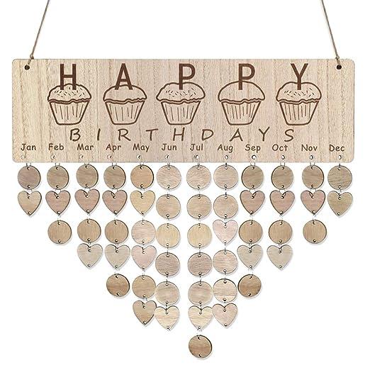 Vosarea Feliz cumpleaños Recordatorio Calendario Tablero de ...