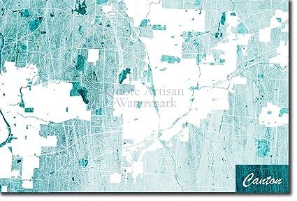 Amazon.com: Best Quality Prints Canton, Ohio, USA Original ... on map of edgerton ohio, map of dublin ohio, map of wells township ohio, map of alger ohio, map of northeast ohio, map of akron ohio, map of larue ohio, detailed map of ohio, map of toledo ohio, map of parkman ohio, map of newbury ohio, map of berlin heights ohio, map of new york, map of nashville ohio, map of black river ohio, map of bowersville ohio, map of williamsfield ohio, map of new holland ohio, map of findlay ohio, map of rittman ohio,
