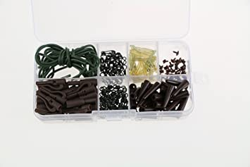 Quick Change Swivels//Anti Tangle Sleeves//Lead Clips//Carp Fishing Rigs Helicopter Beads and Sleeves Paor Fishing Tackle Kit