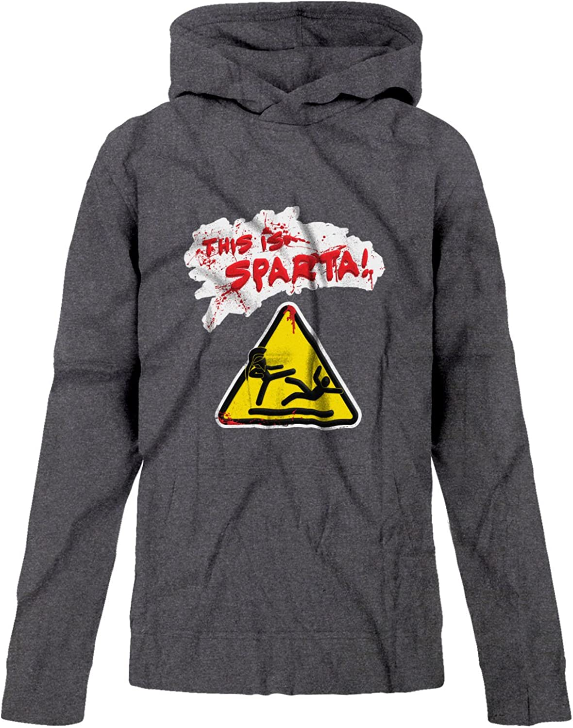 BSW Youth Girls This is Sparta 300 Caution Wet Floor Sign Falling Hoodie