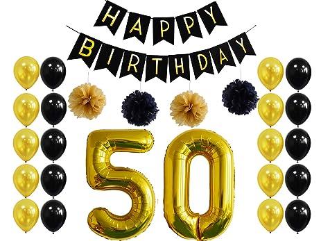 Amazoncom 50th Birthday Party DecorationsHappy Birthday Banner