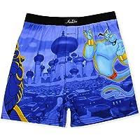 Disney Aladdin Genie Jafar Mens Briefly Stated Boxer Lounge Shorts