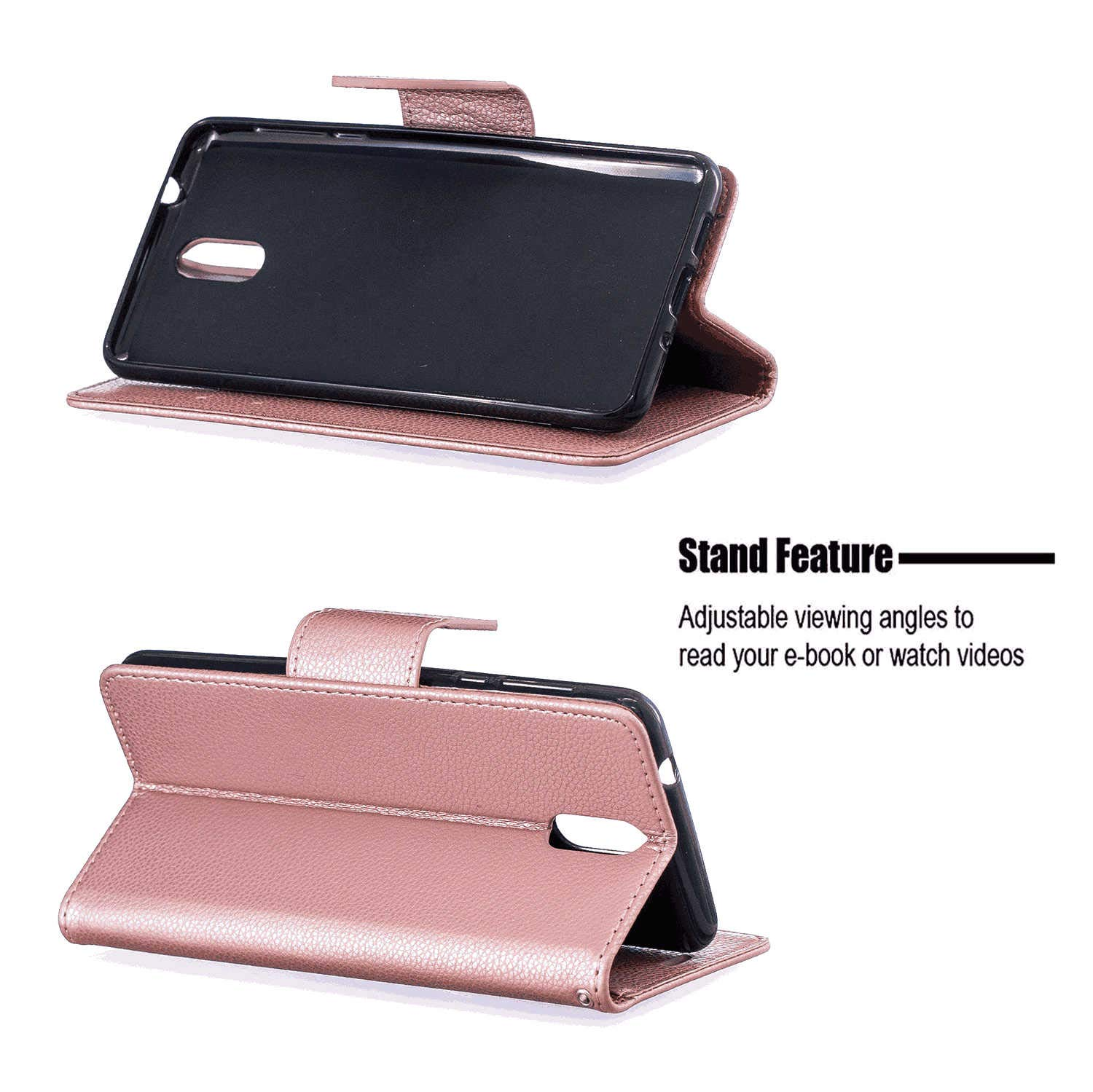 Cover for Huawei P30 Leather Kickstand mobile phone Cover Extra-Shockproof Business Card Holders with Free Waterproof-Bag Gripping Huawei P30 Flip Case