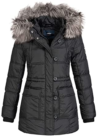 850421a4f Only Coat Newottowa Nylon Black for Women: Amazon.fr: Vêtements et ...