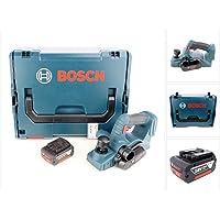 Bosch GHO 18 V-LI Professional Akku Hobel mit 1x GBA 5,0 Ah Akku + L-Boxx
