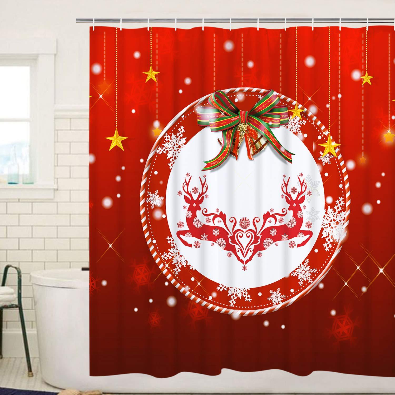BLEUM CADE Funny Bathing Dinosaur Shower Curtain Bathroom Curtain with 12 Hooks Durable Waterproof Animal Fun Bath Curtain