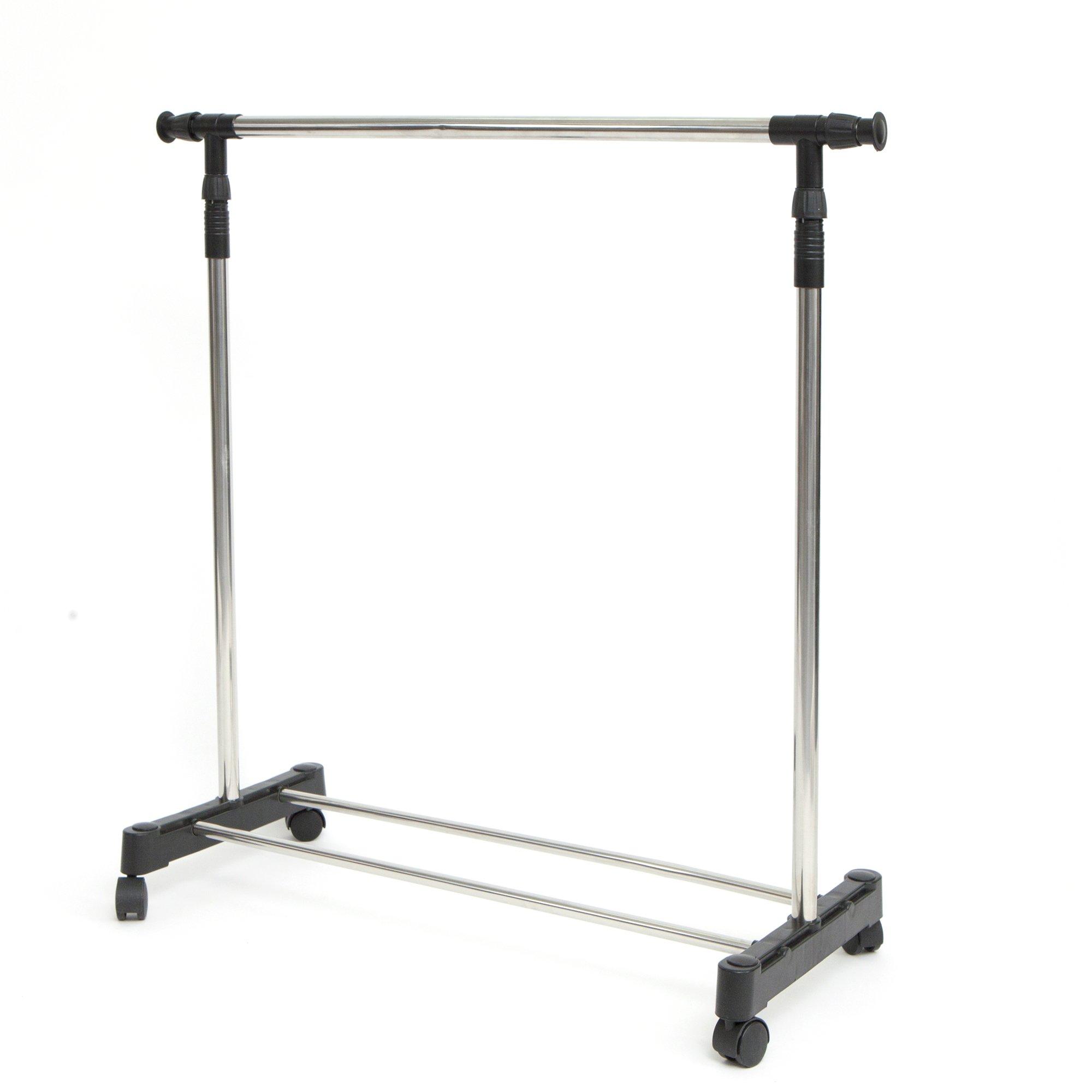 Mind Reader Garment Rack, Stainless Steel, Adjustable, Chrome