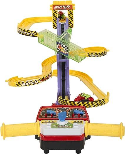 Aaryan Enterprise Nuttines Moto Stunt Set De Pista De Carreras De Bicicleta Para Niños Toys Games