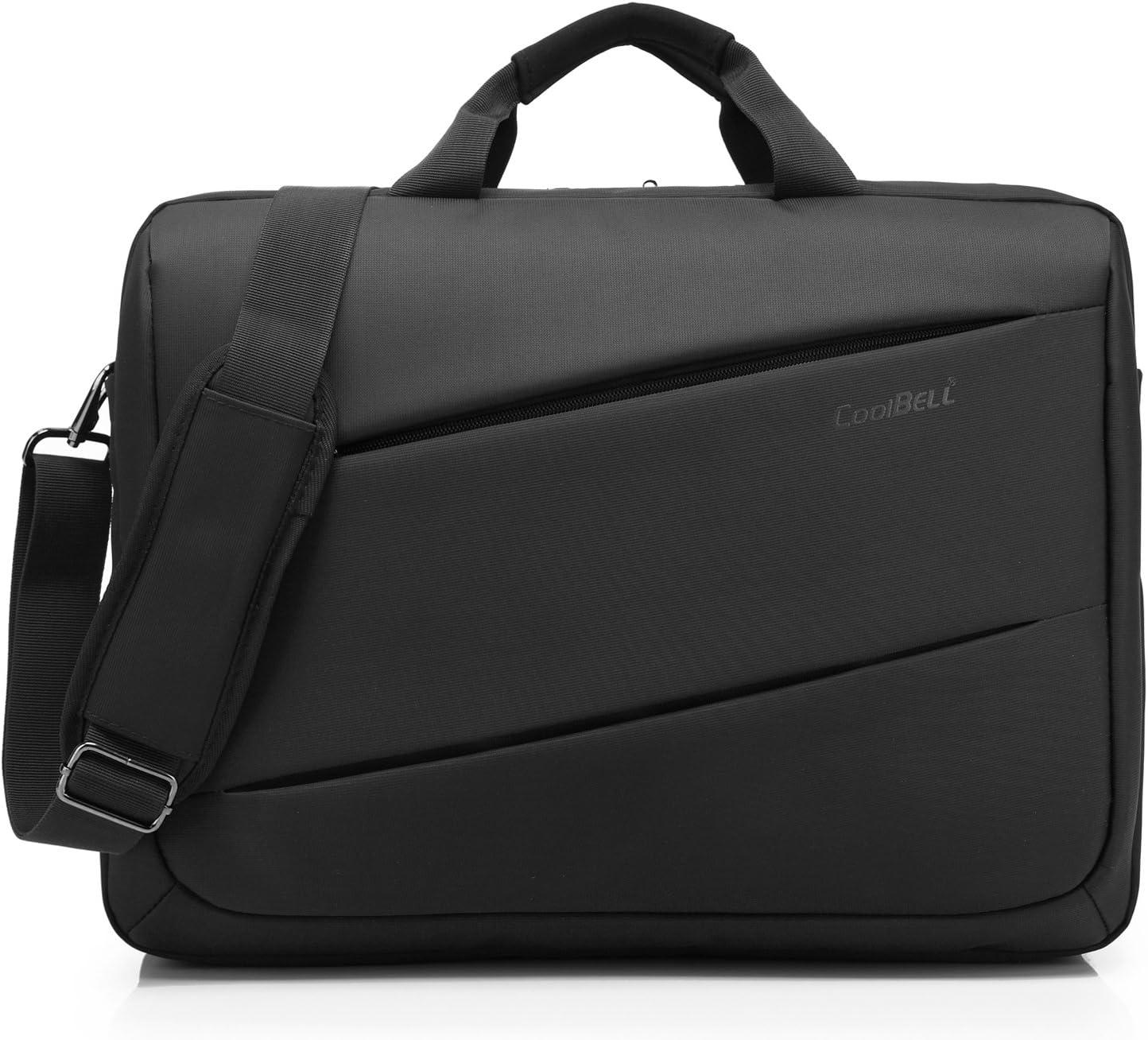 CoolBELL Shoulder Bag 17.3 Inch Laptop Bag Messenger Bag Large Capacity Business Briefcase Multi-Compartment Handbag for Men/Women/College (New Black)