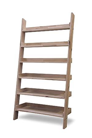 wholesale dealer b4e1f ec456 Leisure Traders Large Wide Wooden Ladder Bookshelf Floating ...