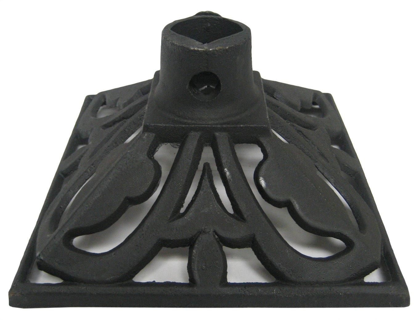 TIKI Brand Cast Iron Torch Stand, Black, 9.1L x 9.1W x 4.8H -Inches Lamplight TIKI 1312322