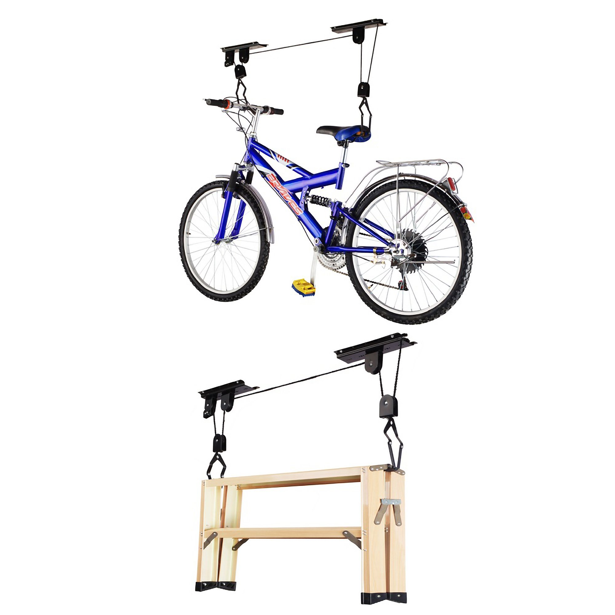 RAD Sportz Bicycle Hoist 4-Pack Quality Garage Storage Bike Lift with 100 lb Capacity Even Works as Ladder Lift Premium Quality by RAD Cycle Products (Image #2)