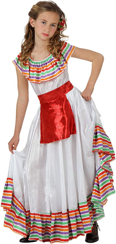 Atosa-69130 Disfraz Mejicana, color blanco, 7 a 9 años (69130 ...