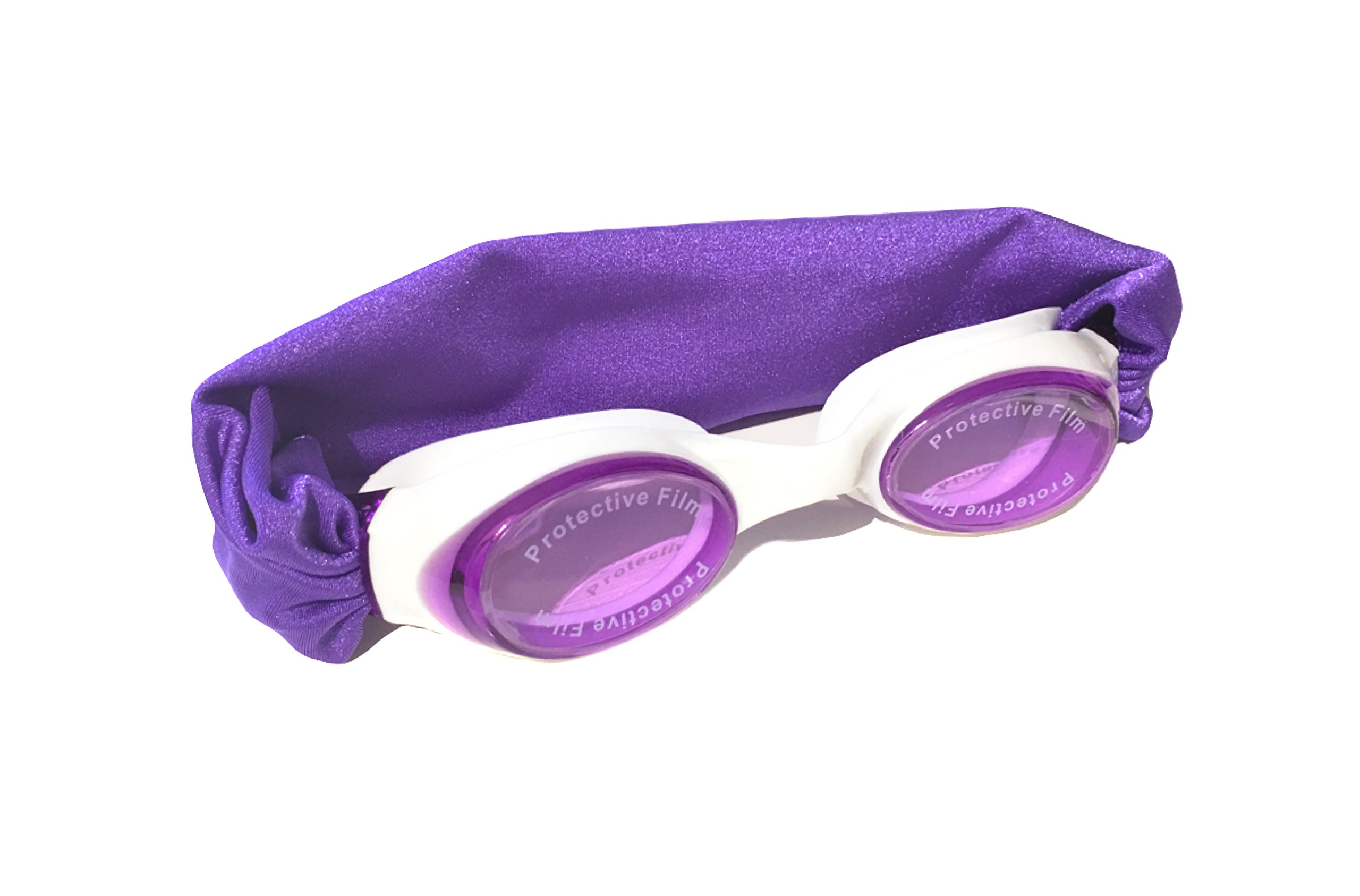 Splash IRIS Shimmer Swim Goggles - Fun Fashionable Comfortable - Fits Kids & Adults - Won't Pull Your Hair - Easy to Use - High Visibility Anti-Fog Lenses - Patent Pending