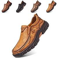 Mocasines de Piel para Hombre, Estilo Casual, Oxford, Costuras a Mano, cómodos,Caminar,Trabajo, Oficina, Zapatos Vestir…