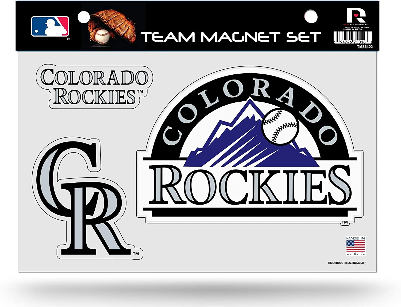 Rico Industries Rockies Multi Die Cut Magnet Sheet Set Heavy Duty Auto Home Baseball Inc