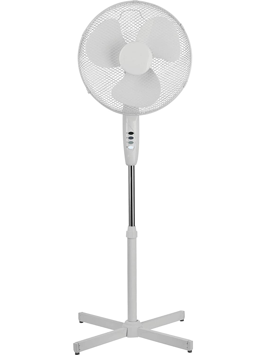 16 3-Speed Oscillating Low Noise Pedestal / Stand Fan - Ideal for Home & Office Texet