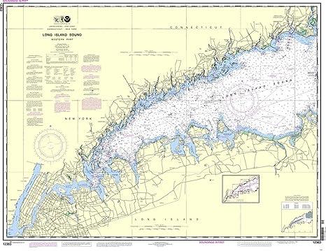 Amazon com noaa chart 12363 long island sound western part