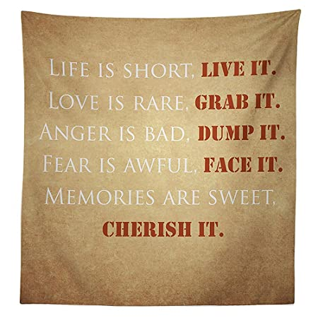 Vipsung Quotes Decor Tablecloth Inspirational Quotes About Life Love