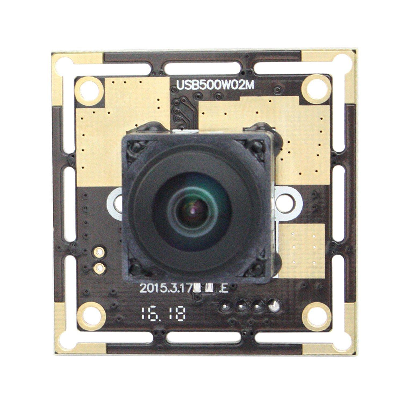 170 Degree Autofocus 5MP USB Webcamera 2592X1944 Wide Angle USB Camera with CMOS OV5640 Image Sensor Web Cams for Video Systems Mini Webcam Free Drive USB Camera Module for Windows Android Mac by Camera USB