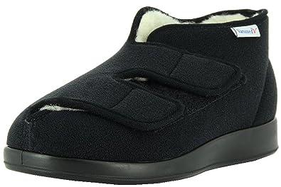 Florett Klettschuh für druckempfindliche Füße, schwarz, schwarz