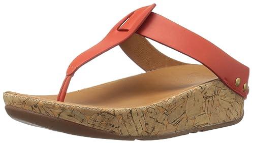 cf7f357de2af23 FitFlop Women s Ibiza Cork Leather Toe-Thong Sandals Flip Flop  Buy ...