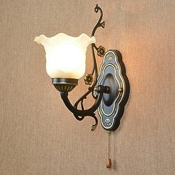 Avanthika E27 Wandlampe Antik Vintage Metall Retro Wandleuchte Der