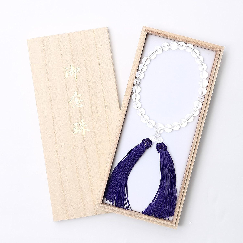 (ニナーズ) nina's 念珠 男性 男性用 メンズ クリスタル 数珠 白 ホワイト 水晶 パワーストーン クリスタル JU5405-M B07CXP9236