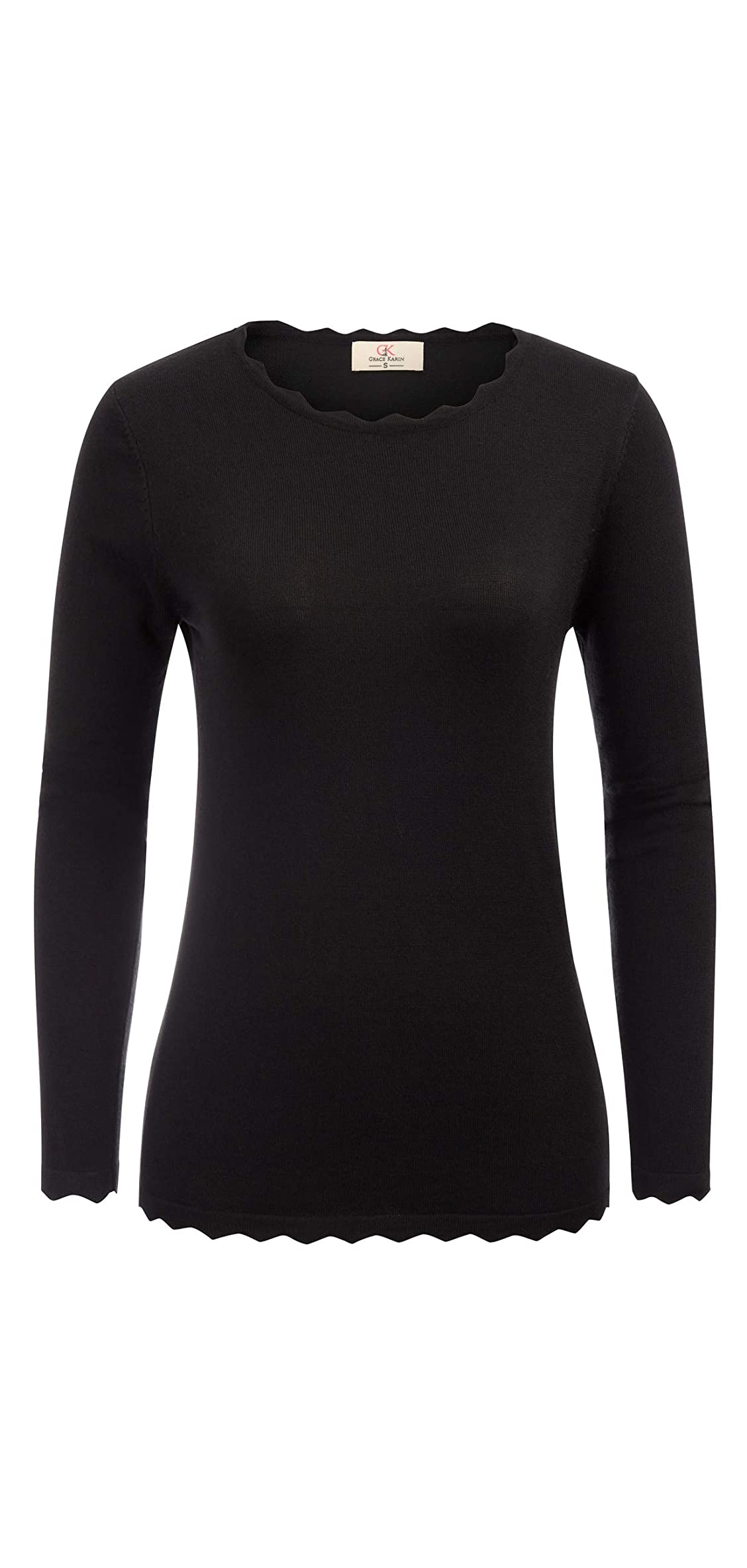 Women's High Stretchy Long Sleeve Pullover Sweater