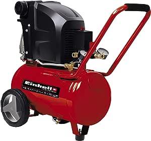 Einhell TE-AC 270/24/10 - Compresor de Aire (1.8 kW, 24 L, capacidad de admisión 270 l / min, 10 bar, lubricado con aceite, ruedas grandes) (ref. 4010450): Amazon.es: Bricolaje y herramientas