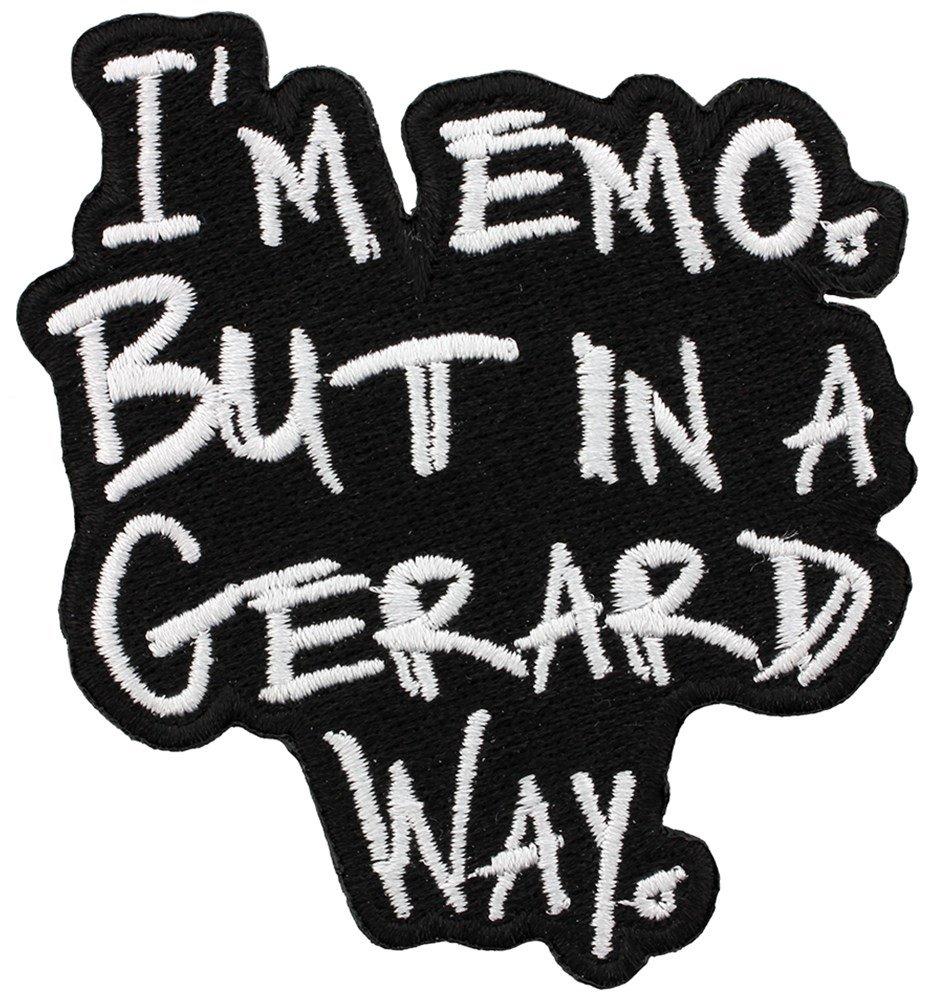 Grindstore Targhetta vivigade toppa I'm Emo But In A Gerard Way 7 x 8 cm
