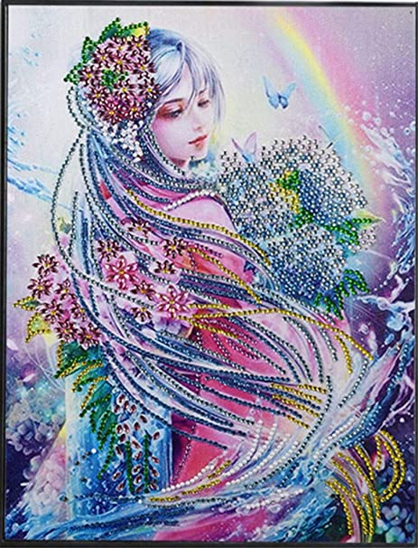 Diamond Embroidery Painting DIY 5D Lovely Colorful Fairy Pattern Handicraft Arts
