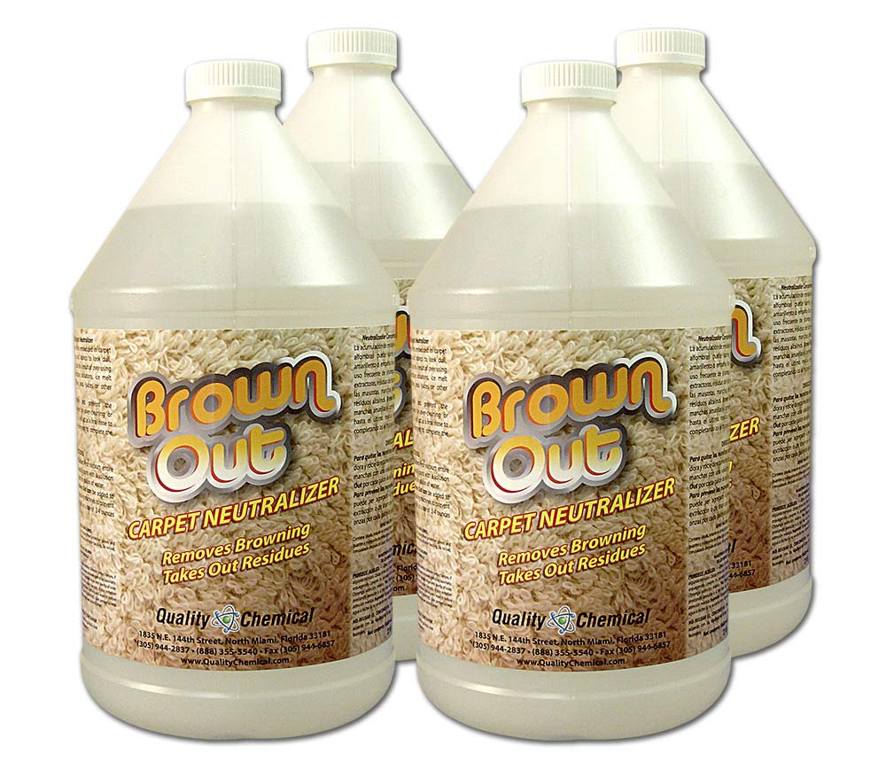 Brown Out Carpet Neutralizer and Stain Remover-4 gallon case by Quality Chemical