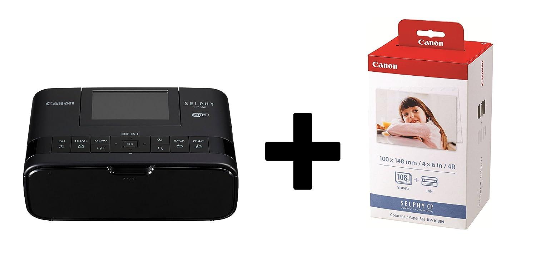 Canon Selphy CP1300 Impresora fotográ fica Incluye cartucho de impresió n/kit de papel para 108 impresiones (termosublimació n, USB, WiFi, pantalla LC, AirPrint, mopria, SD de seguridad) rosa OP2236C002