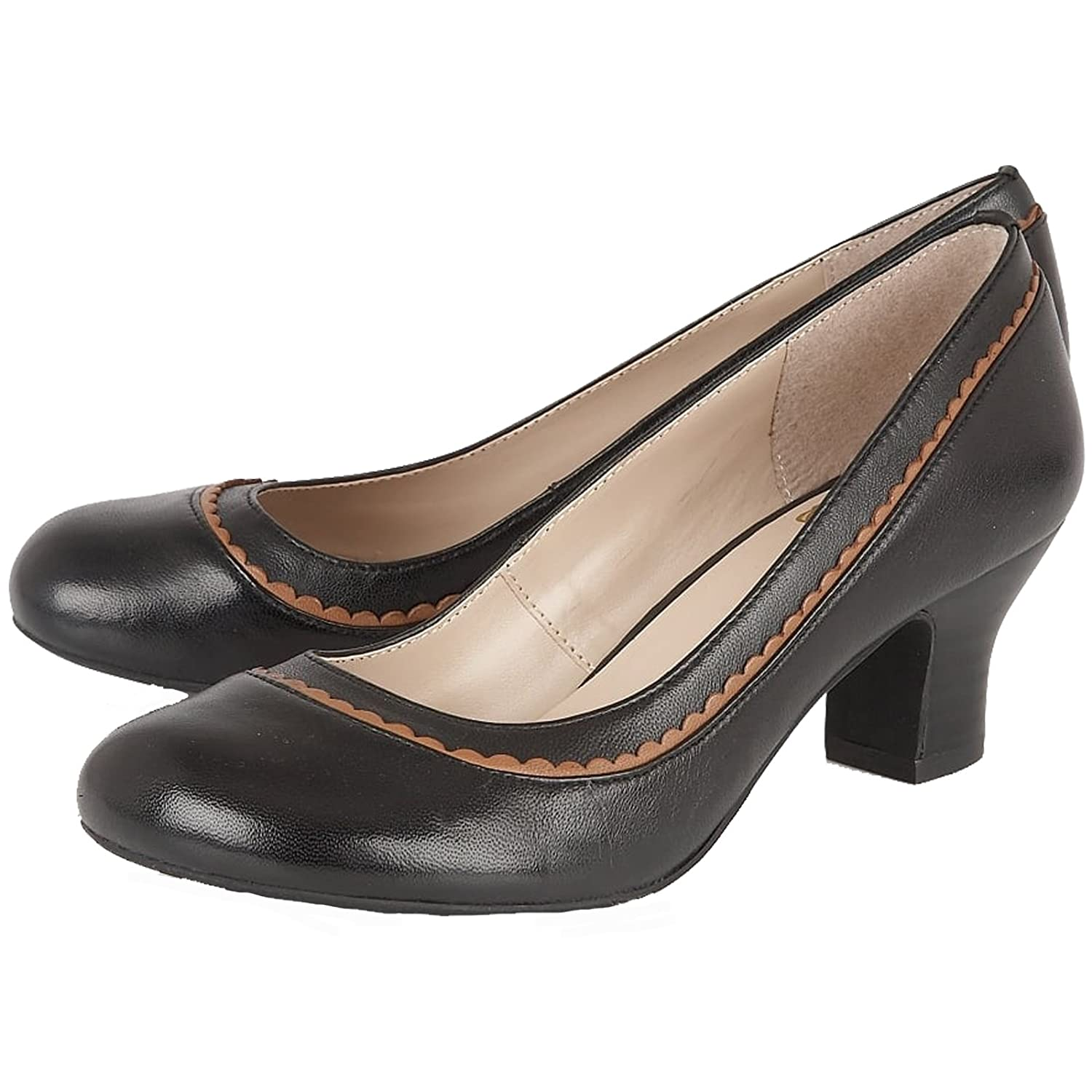 Lotus Ladies Hallmark Orinda schwarz Leather Block Heel Court Court Court schuhe -UK 7 (EU 40) c818cf