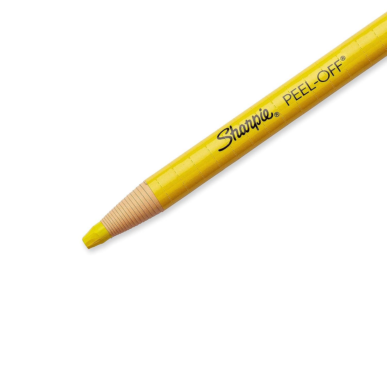 Sharpie PEEL-OFF Marker China, China Marker Bullet, 12 Pack, White (1943561) Sanford 2060