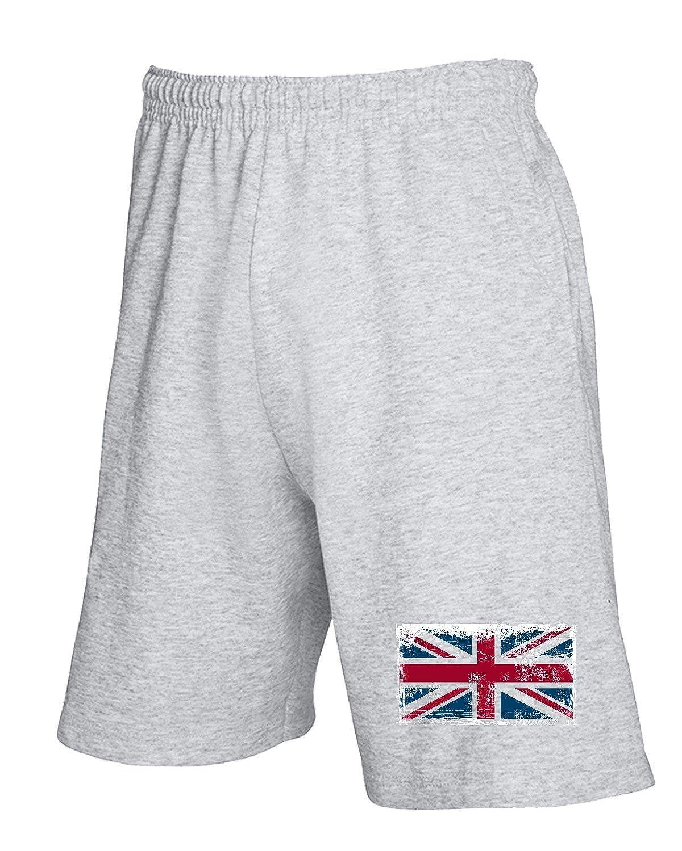 Jogginghose Shorts Grau T0761 England Flag Union Jack Politica
