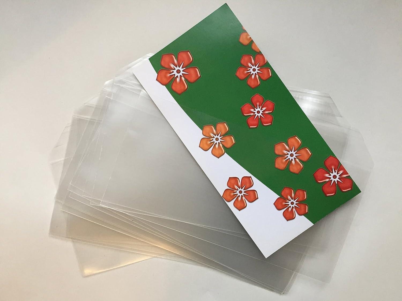50 buste per lettera, trasparenti in polipropilene, con strip adesivo, 220 x 110 mm, Premium: spesso 100 my, limpido umschlag-discount OT-10120-50