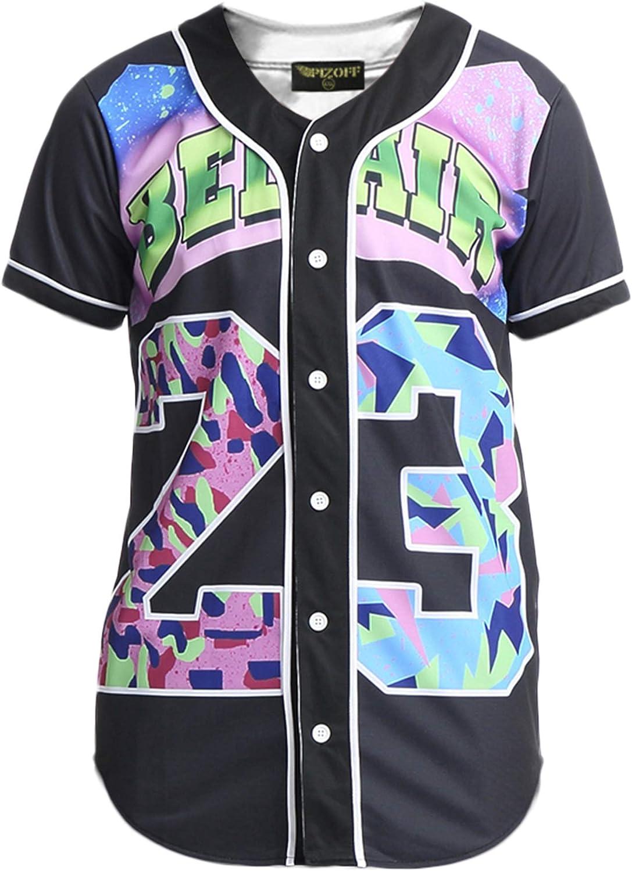 Raylans Unisex Baseball Team Jersey Shirt Short Sleeve 3D Print Tees