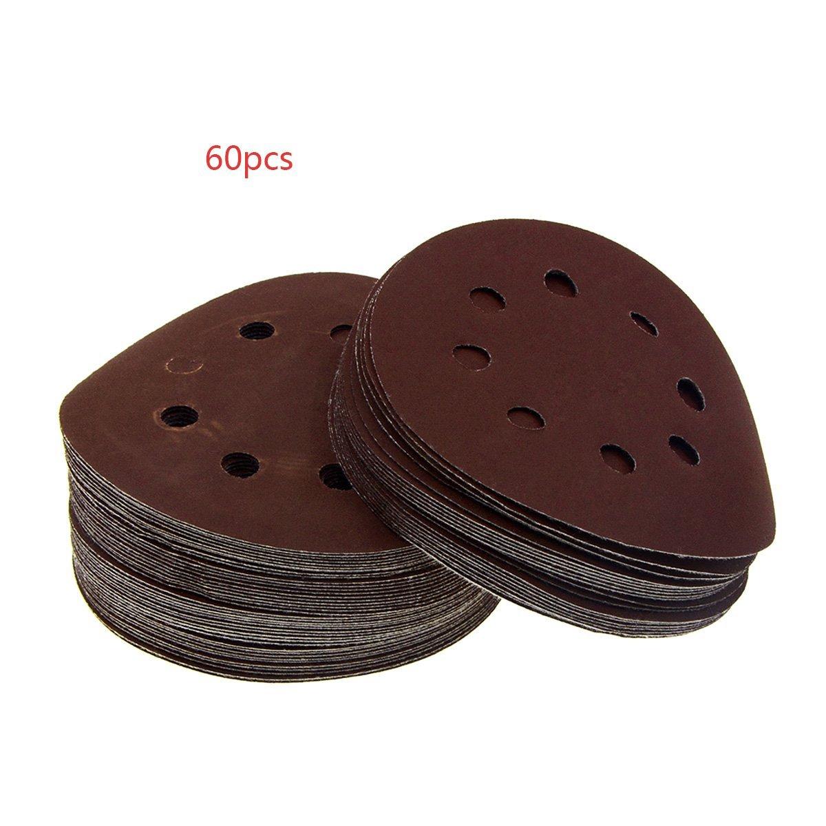 YXQ 5'' 8-Hole Hook and Loop Sanding Discs 5000Grit Sandpaper (24Pcs)