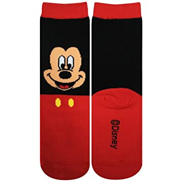 Disney Ni?os Calcetines cara de Mickey Mouse 13cm ~ 18cm AWDS4396J