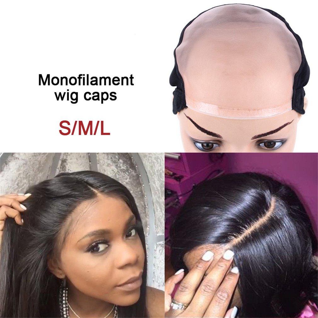 Amazon.com: L/M/S Mono Peluca Caps para hacer pelucas con ...