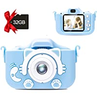Kids Camera, Video Camera for Children, Digital Camera Toys Gift for Toddler Best Birthday Gift for Age 3-10 Boys and Girl (Blue)
